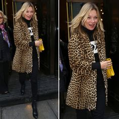 Kate Moss's Leopard-Print Coat Could Change Your Winter Wardrobe