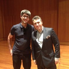 Thijs Rozeboom with the great Maxim Vengerov at the Sydney Conservatorium of Music.