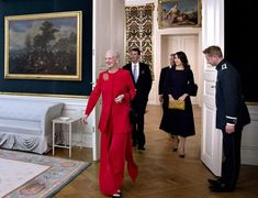Queen Margrethe, Crown Princess Mary and Prince Joachim attended a reception at Amalienborg Palace
