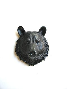 Faux Taxidermy Small Bear Head wall mount Bob the by mahzerandvee, $30.00