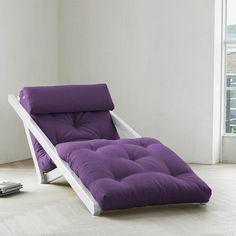 Sesselbett Figo Weiß Violett, 259€, jetzt auf Fab.