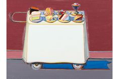 Wayne Thiebaud = Cafe Cart
