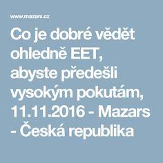 Co je dobré vědět ohledně EET, abyste předešli vysokým pokutám, 11.11.2016 - Mazars - Česká republika
