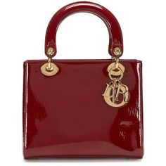 Christian Dior Burgundy Patent Leather Medium Lady Dior Bag ❤ liked on Polyvore featuring bags, handbags, vintage handbags, patent handbags, red handbags, christian dior and patent purse