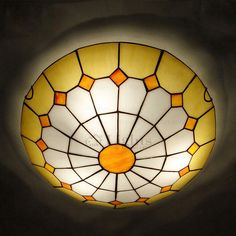 Diy tiffany lamp shade dont know if i could ever do this but it beautiful 3 light stained glass shade tiffany ceiling lighting aloadofball Choice Image
