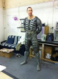 Ian Whyte get fitted out for Prometheus engineer