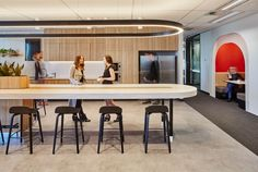Image Office Break Room, Office Lounge, Open Office, Office Table, Corporate Interiors, Office Interiors, Interior Work, Interior Design, Library Lighting