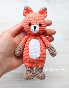 Cuddle Me Fox - Free Amigurumi Pattern