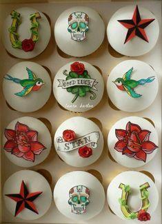 Rockabilly Cupcakes cakepins.com