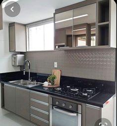 Kitchen Room Design, Kitchen Cabinet Design, Kitchen Sets, Modern Kitchen Design, Interior Design Kitchen, Kitchen Decor, Kitchen Modular, Modern Kitchen Cabinets, Kitchen Island