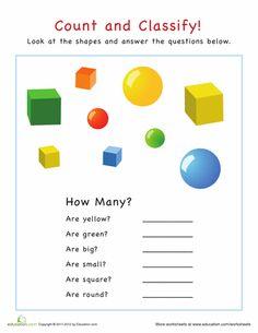 Worksheets Categorizing Worksheets kid sorting and preschool on pinterest worksheets categorization how many shapes