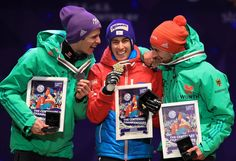 Stefan Kraft Photos Photos - (L-R) Andreas Wellinger of Germany, Stefan Kraft of Austria and Markus Eisenbichler of Germany celebrate with their medals after the Men's Ski Jumping HS100 Final during the FIS Nordic World Ski Championships on February 26, 2017 in Lahti, Finland. - Men's Ski Jumping HS100 - FIS Nordic World Ski Championships