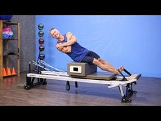 Lean with Arms Folded on Pilates Reformer - YouTube