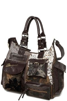 London Puntilla Marron Desigual