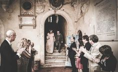 Bride and groom in Pienza