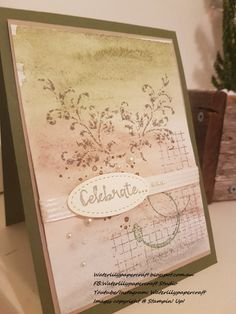 Stampin' Up! Timeless Textures Watercolour Vintage.