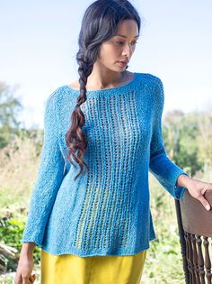 Passiflora Lace Pullover Sweater Free Knitting Pattern | More Lace Pullover Knitting Patterns at http://intheloopknitting.com/free-lace-pullover-knitting-patterns/