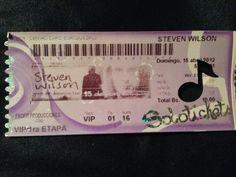 15/04/2012: Steven Wilson en Caracas. Entrada VIP.