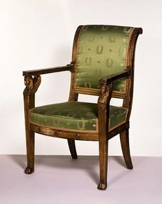 Armchair made for Marshal Ney (1769-1815) of Napoleon's army. Jacob-Desmalter, 1800s, Paris
