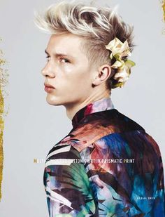 Floral Menswear Accessories The Big Blue Club 21 Magazine Shoot is Artful and Edgy #menswear #fashion