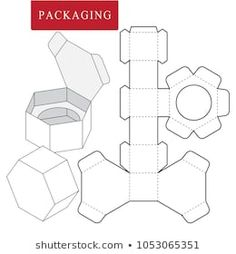 Vector Illustration of Box. Isolated White Retail Mock up - Salvabrani Box Packaging Templates, Packaging Dielines, Craft Packaging, Packaging Design, Paper Gift Box, Diy Gift Box, Diy Box, Paper Box Template, Card Templates