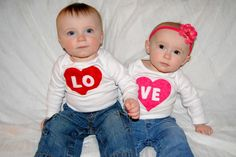 LO-VE set - perfect for twins, siblings, friends! <3