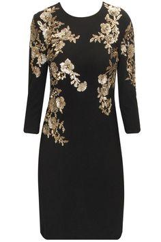 New fashion latest emborodidry knee-lenth dress   (1)