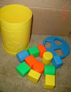 Fischer Price Shape Sorter - parents were smart and gave us games that we constantly cleaned up ourselves!