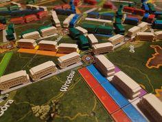 Ticket to Ride, Wooden trains cars, custom meeple, unofficial, collector's set, engraved, wood, Zug um Zug, board game, train ze sklepu MeepleStudioCom na Etsy