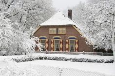 Veluwse boerderij in de sneeuw (farm house in the Veluwe in the snow!)
