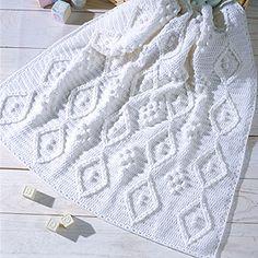 Frosty Diamonds Afghan Crochet Pattern ePattern - Leisure Arts