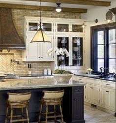 Rustic Kitchen is Classic:Small Rustic Kitchen Designs Rustic Kitchen With Brick Backsplash - China hats over the sink Home, Kitchen Design Small, Kitchen Design, Sweet Home, Small Rustic Kitchens, Kitchen Interior, Rustic Kitchen Design, Beautiful Kitchens, Modern Kitchen Design
