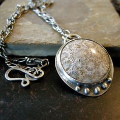 Sterling Silver Bezel Necklace with a 26 x 26 by coldfeetjewelry, $125.00