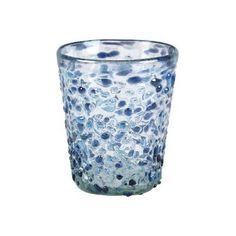 Mariposa Confetti Blue Double Old Fashion Glasses