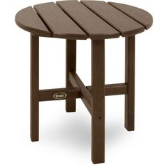 "Trex Outdoor Furniture Cape Cod Round 18"" Side Table"
