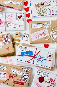 Chocolate bars become Valentine packages with printable stamps labels and decoration | Darcy Miller #valentine #valentinesday #lovenote #giftidea #forkids #forparents #activity #sweet #treat #idea #inspo #inspiration #mail #snailmail #giftidea #customize #personalize #favor #hersheys Wedding Party Favors, Birthday Party Favors, Birthday Party Decorations, Birthday Parties, A Little Party, Personalized Chocolate, Valentine Chocolate, Special Delivery, Valentines Diy