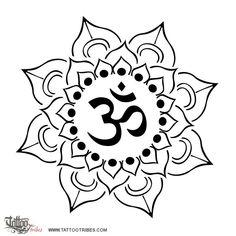 Tatuaggio di Loto e AUM, Perfezione, consapevolezza tattoo - TattooTribes.com