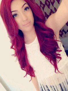Bright red long hair [ hairburst.com ] #red #style #natural