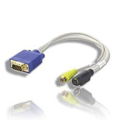 TV-out VGA to S-Video/RCA Cable Adapter