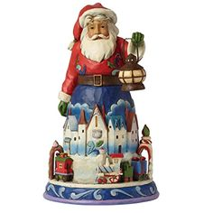 Jim Shore for Enesco Heartwood Creek Santa with Train Figurine, 10-Inch ** Read more at the image link.