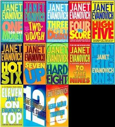 Stephanie Plum Series by Janet Evanovich. By far my favorite female author. Any book that makes you laugh when you read is worth reading more than once and all of the Stephanie Plum books do that. I Love Books, Great Books, Books To Read, My Books, Amazing Books, Blue Books, Love Reading, Reading Lists, Book Lists