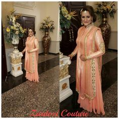 fabulous vancouver wedding My client all dolled up for her daughter's engagement party. She is wearing a peach blush #brocade suit with a georgette #sharara. She was such a nice lady to work with, just beautiful inside out!!! Located in Brampton Please call or whatsapp for any inquiries at 4169102592 by @zardozi_couture  #vancouverengagement #vancouverwedding #vancouverwedding