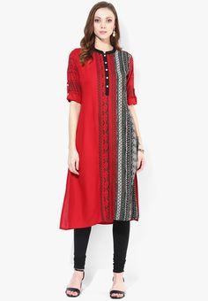 245c5a7bc8c Buy Global Desi Red Printed Viscose Kurti Online - 3366388 - Jabong