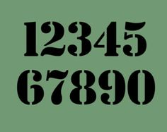 fancy number stencils - Google Search