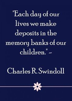 Filling the memory banks of our children is a really important thing to do We need to be mindfully parenting. Take a look at some ways in which we could be more consciously parenting and building our children's self esteem each day with positive parenting refection and action