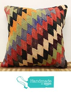 Oriental kilim pillow cover 16x16 inch (40x40 cm) Boho Kilim pillow cover Home Decor Handmade Pillow cover Cushion Cover from Kilimwarehouse http://www.amazon.com/dp/B019IU4C0Q/ref=hnd_sw_r_pi_dp_g3rDwb1GK3775 #handmadeatamazon