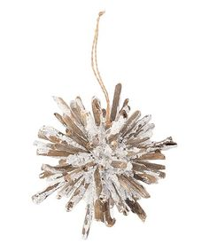 Another great find on #zulily! Frosted Twig Star Burst Ornament #zulilyfinds