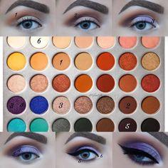 Jaclyn Hill x Morphe palette Palette Morphe, Jaclyn Hill Eyeshadow Palette, Jaclyn Hill Palette, Jacklyn Hill Palette Looks, Makeup Palette, Makeup Eye Looks, Skin Makeup, Eyeshadow Makeup, Eyeshadows