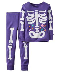 Carter's Baby Girls 2 Pc Cotton, Print, 6 Months: Halloween 2 piece purple glow in dark bones Carters Halloween, Halloween Pajamas, Baby Girl Halloween, Halloween Clothes, Baby Girl Pajamas, Carters Baby Girl, Toddler Girl, Baby Girls, Toddler Sleep