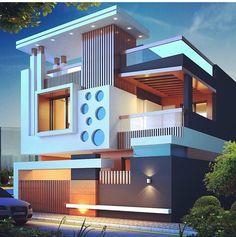 Modern Architecture Design Ideas To Inspire You — Home Design Ideas Bungalow House Design, House Front Design, Cool House Designs, Modern House Design, House Architecture Styles, Modern Architecture Design, Arch Architecture, Modern Minimalist House, Home Building Design